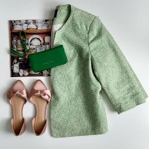 The Limited Green Tweed & Cream Blazer Size Large
